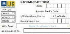 How to Change LIC NACH/ECS Mandate from one Bank to another Bank?
